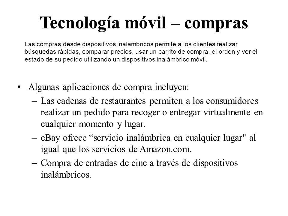 Tecnología móvil – compras