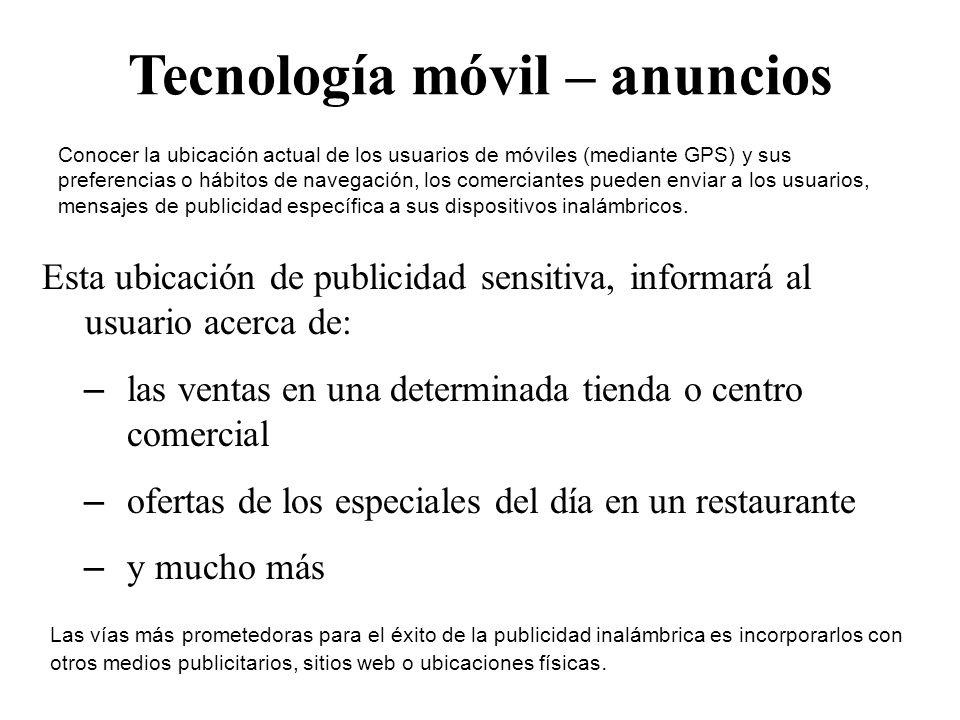 Tecnología móvil – anuncios