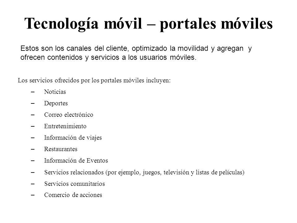 Tecnología móvil – portales móviles