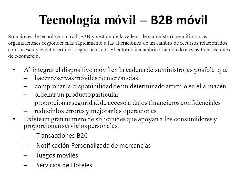 Tecnología móvil – B2B móvil