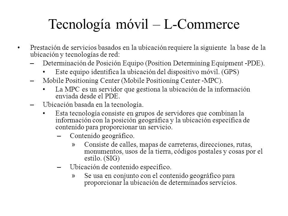 Tecnología móvil – L-Commerce