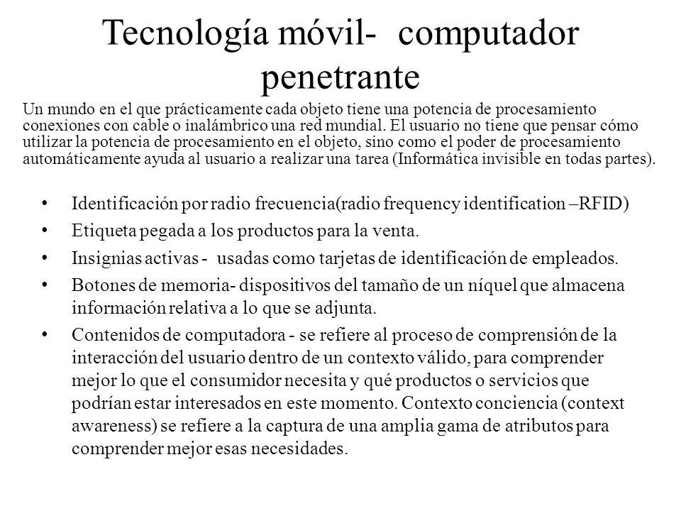 Tecnología móvil- computador penetrante