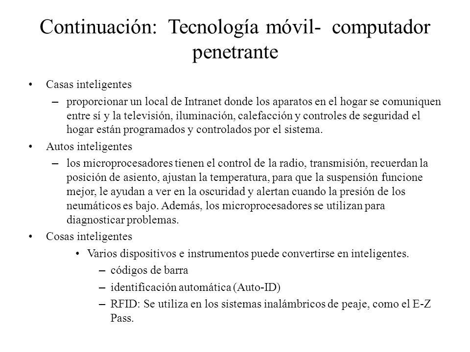Continuación: Tecnología móvil- computador penetrante