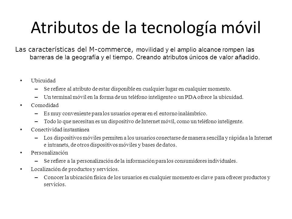 Atributos de la tecnología móvil