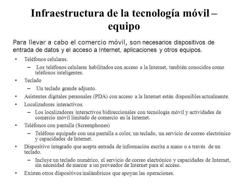 Infraestructura de la tecnología móvil – equipo