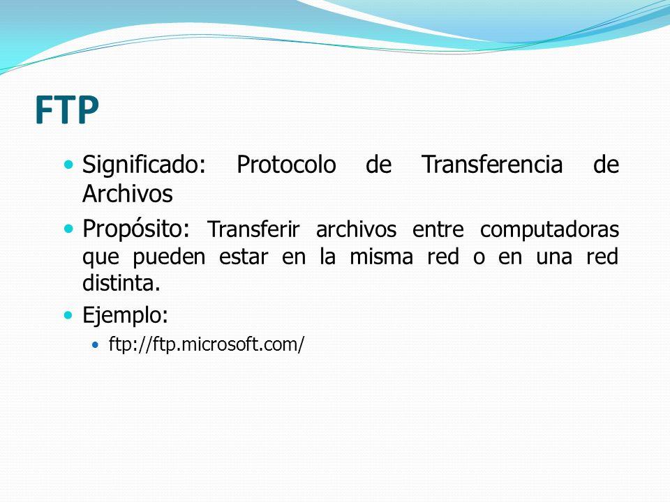 FTP Significado: Protocolo de Transferencia de Archivos