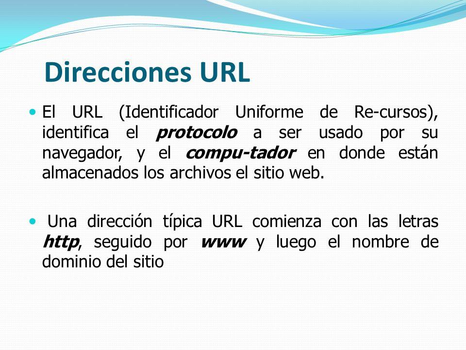 Direcciones URL