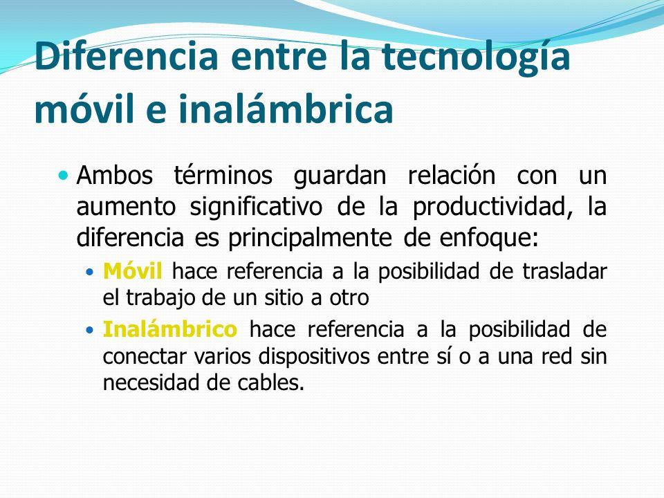 Diferencia entre la tecnología móvil e inalámbrica