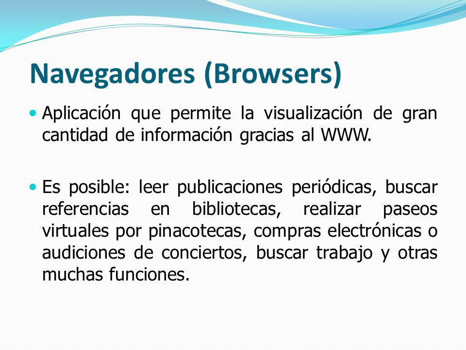 Navegadores (Browsers)