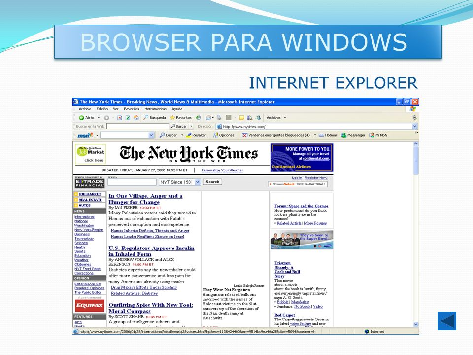BROWSER PARA WINDOWS INTERNET EXPLORER