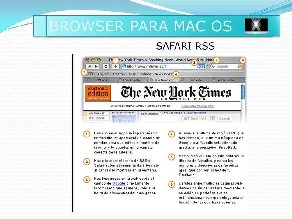 BROWSER PARA MAC OS SAFARI RSS