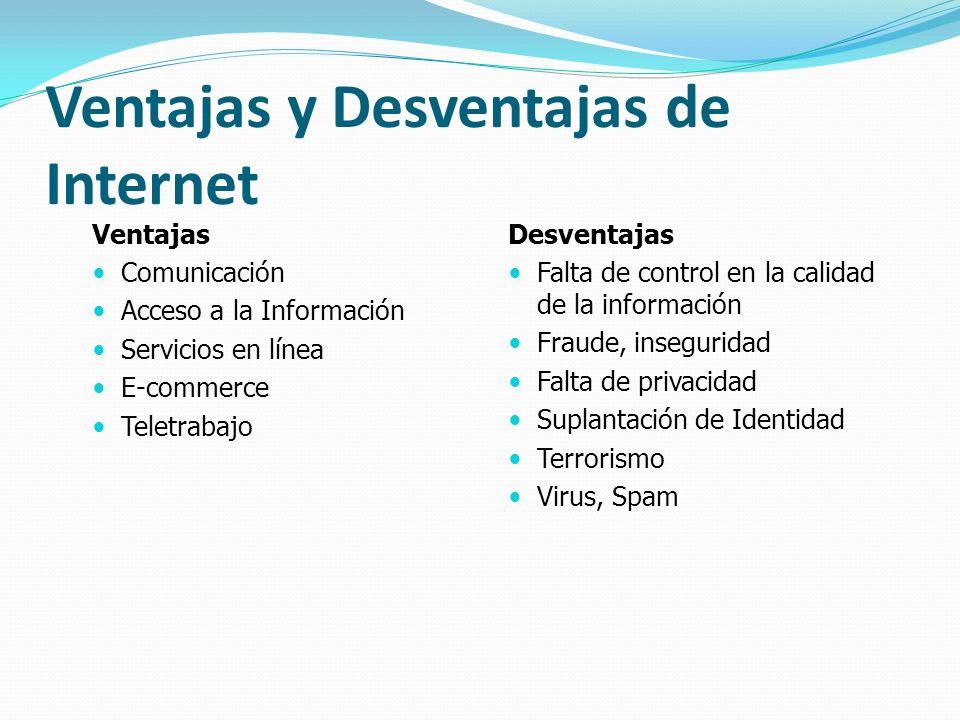 Ventajas y Desventajas de Internet