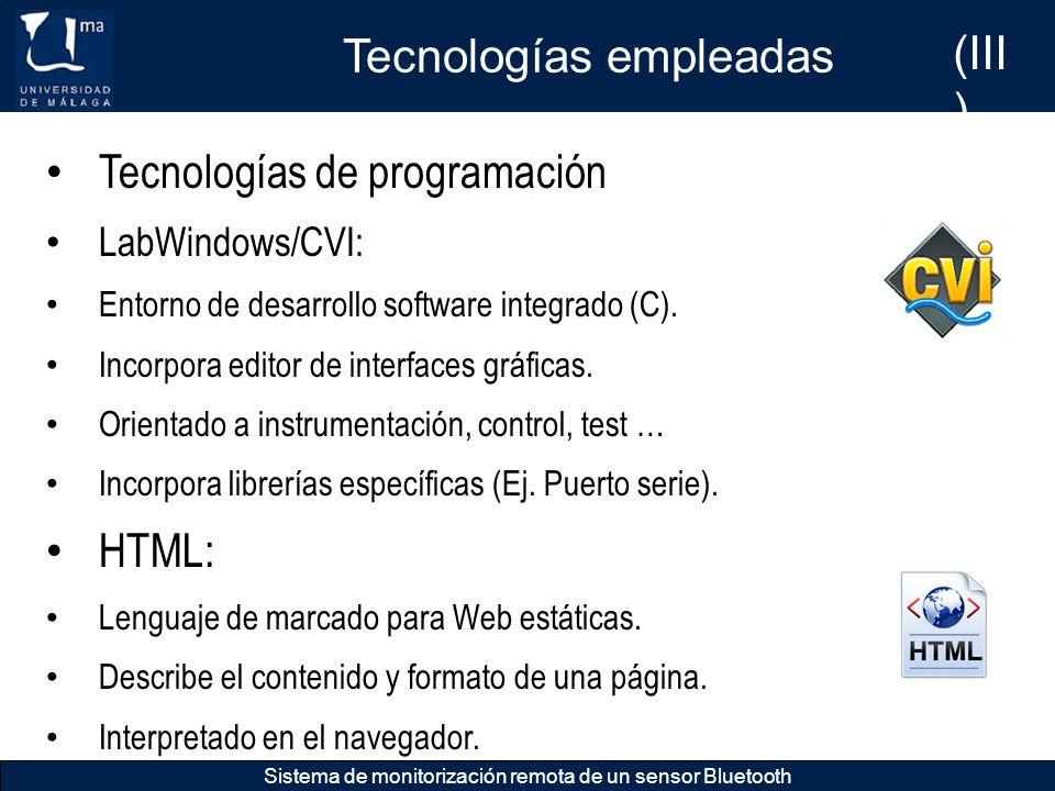 Tecnologías empleadas (III)