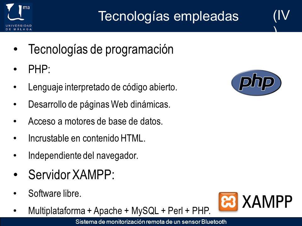 Tecnologías empleadas (IV)