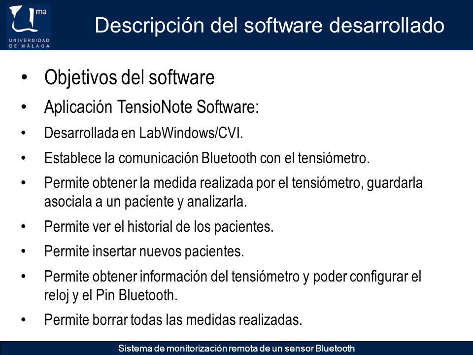 Descripción del software desarrollado