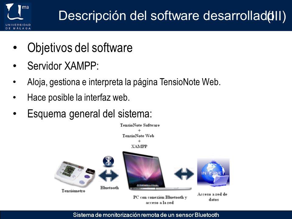 Descripción del software desarrollado (III)