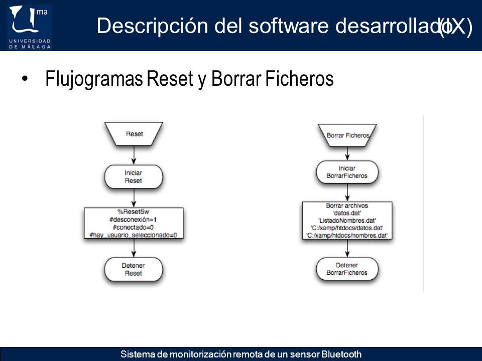 Descripción del software desarrollado (IX)