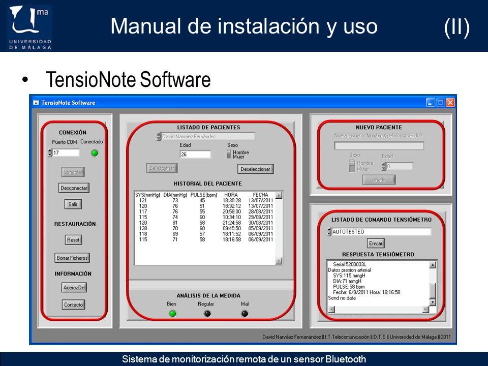 Manual de instalación y uso (II)