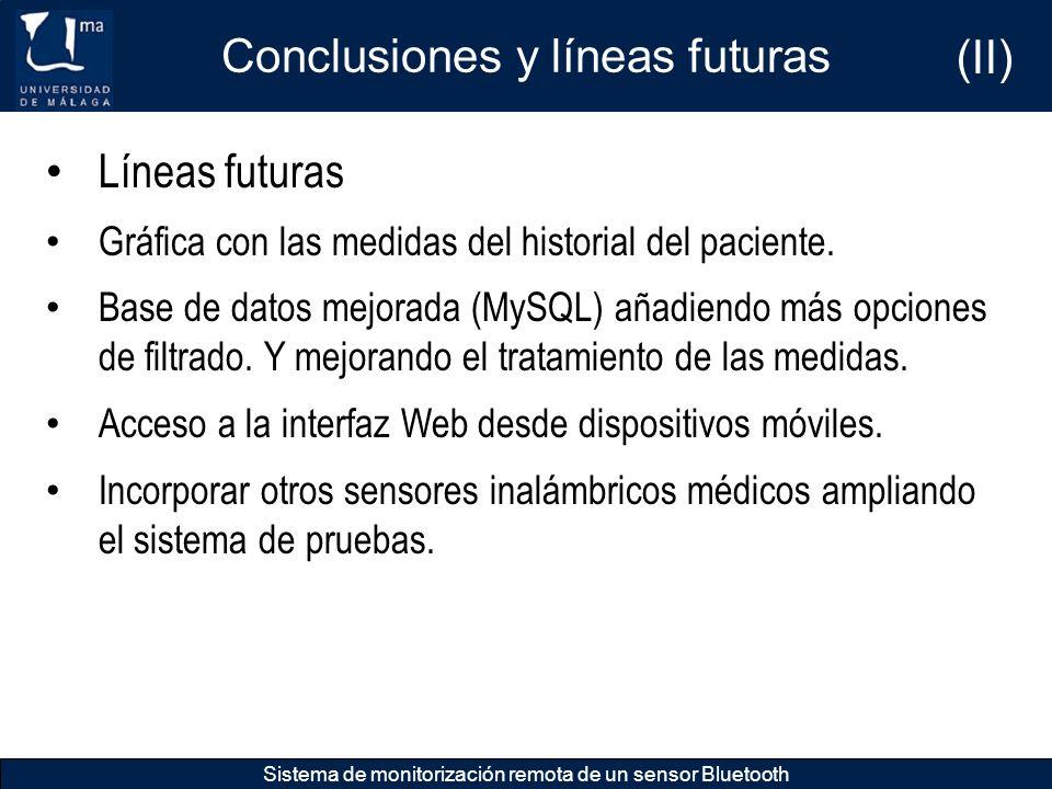 Conclusiones y líneas futuras (II)