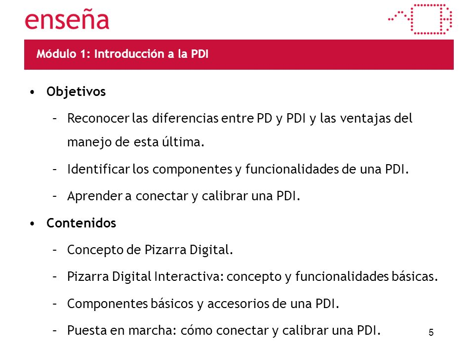 PD/PDI Diferenciar el concepto de Pizarra Digital del de Pizarra Digital Interactiva