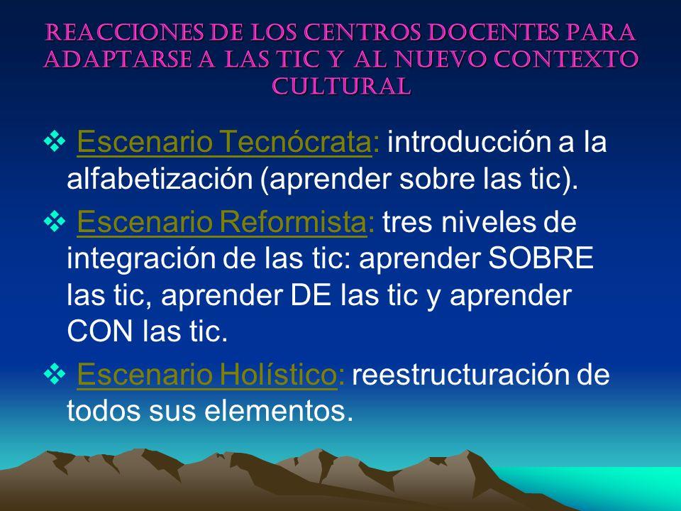 Escenario Holístico: reestructuración de todos sus elementos.