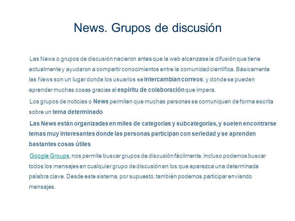 News. Grupos de discusión