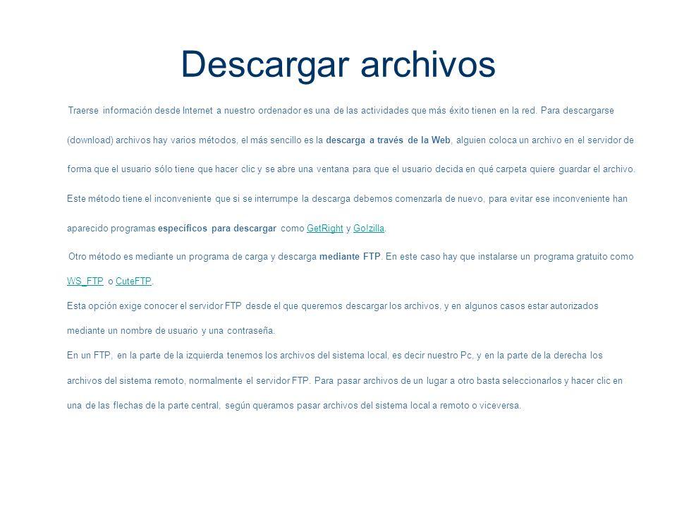 Descargar archivos