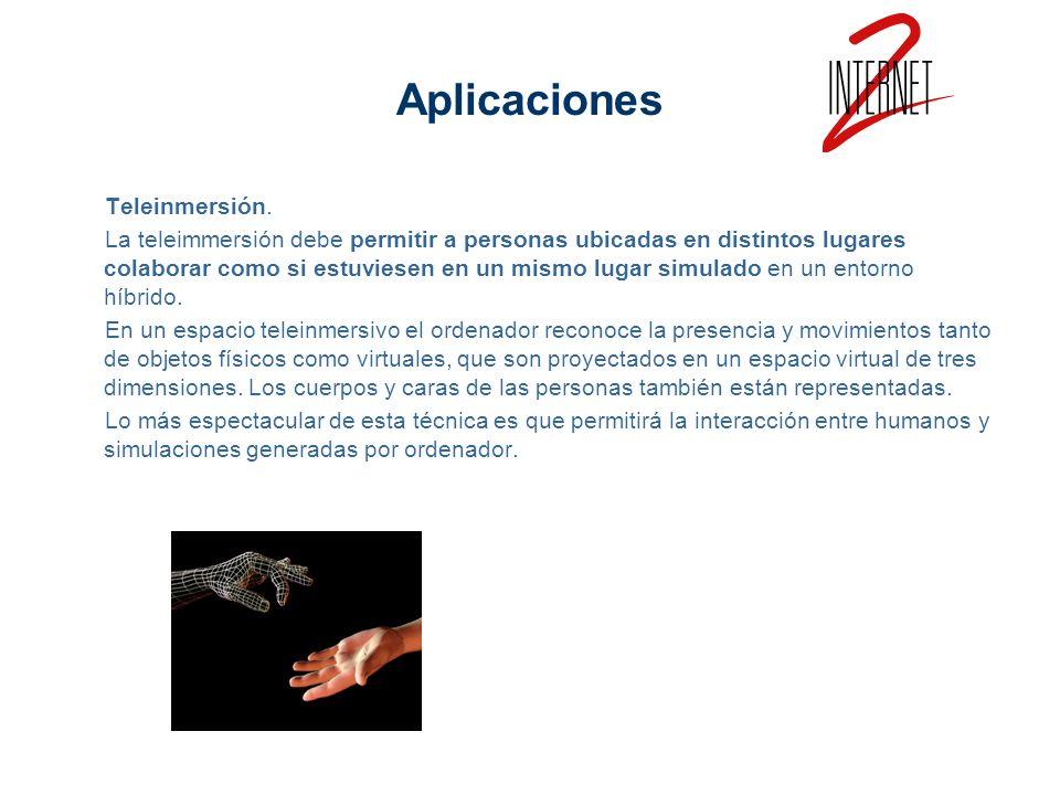 Aplicaciones Teleinmersión.