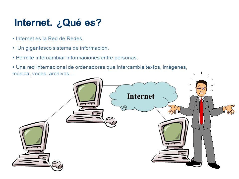 Internet. ¿Qué es Internet Internet es la Red de Redes.
