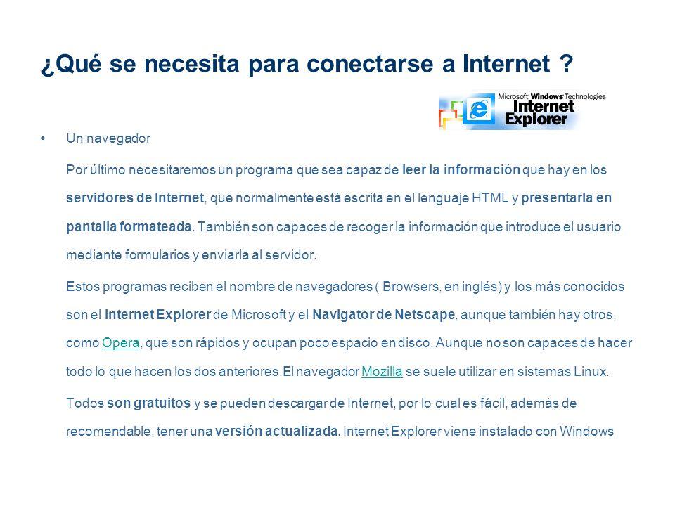 ¿Qué se necesita para conectarse a Internet