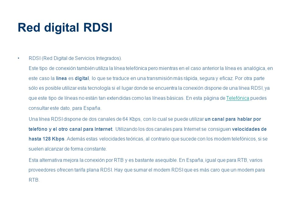 Red digital RDSI
