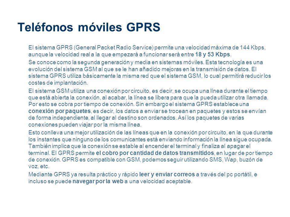 Teléfonos móviles GPRS