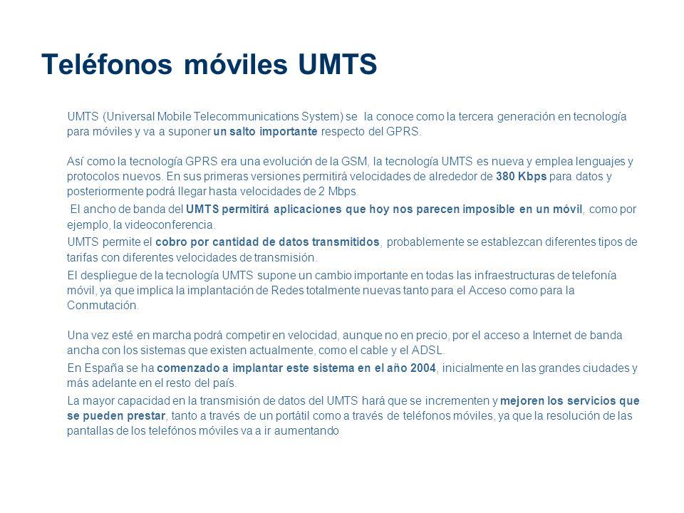 Teléfonos móviles UMTS
