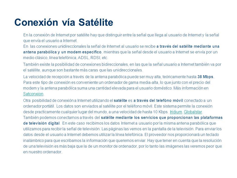 Conexión vía Satélite
