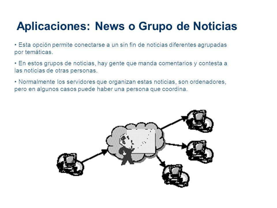 Aplicaciones: News o Grupo de Noticias
