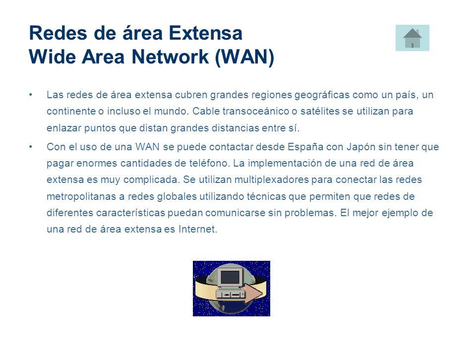 Redes de área Extensa Wide Area Network (WAN)