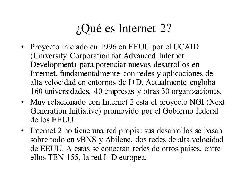 ¿Qué es Internet 2