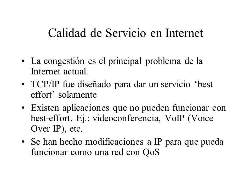 Calidad de Servicio en Internet