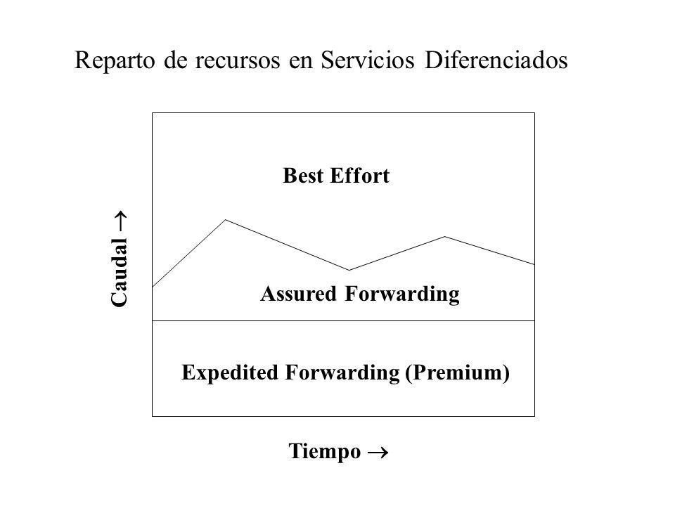 Reparto de recursos en Servicios Diferenciados