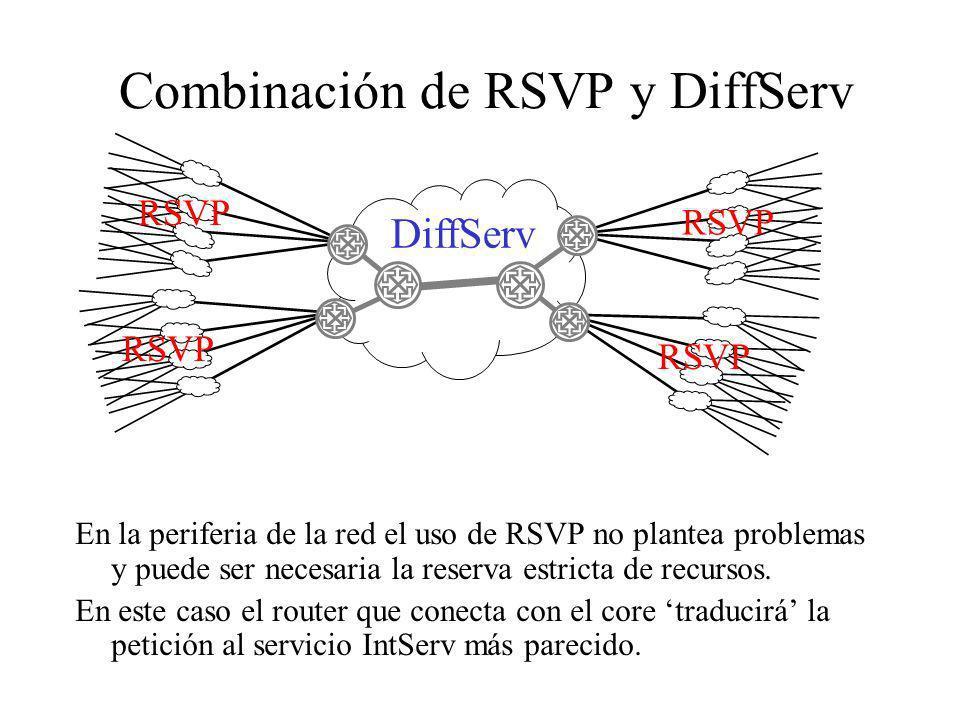 Combinación de RSVP y DiffServ