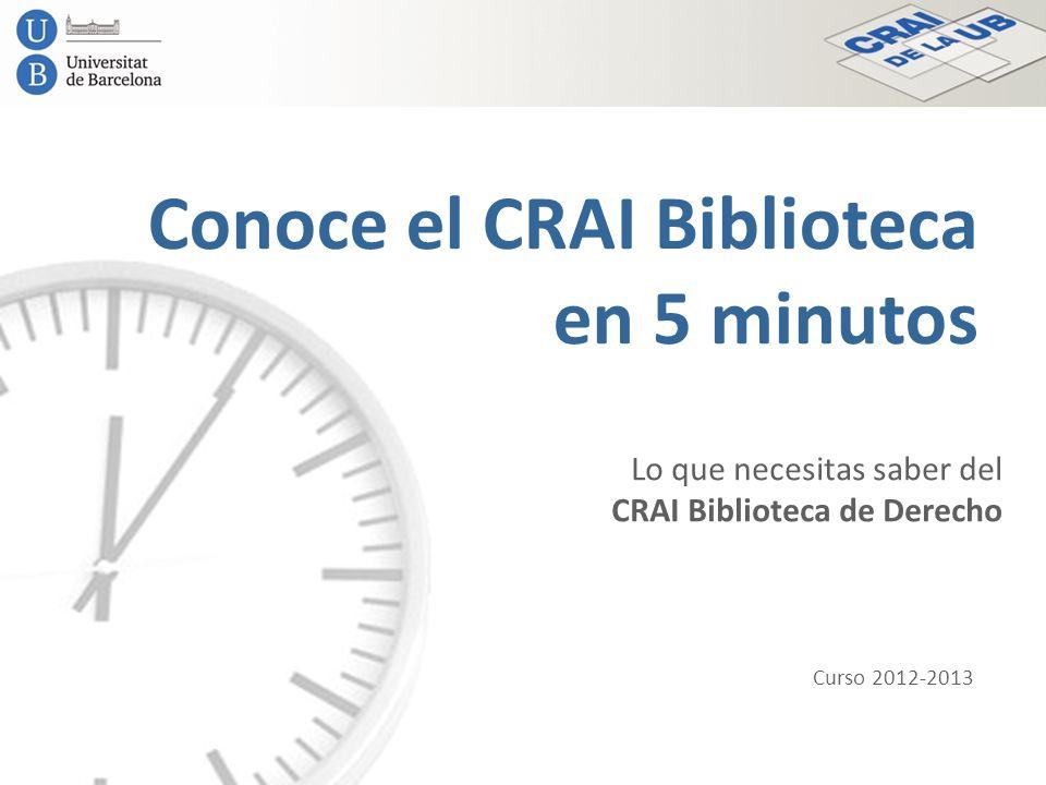 Conoce el CRAI Biblioteca en 5 minutos