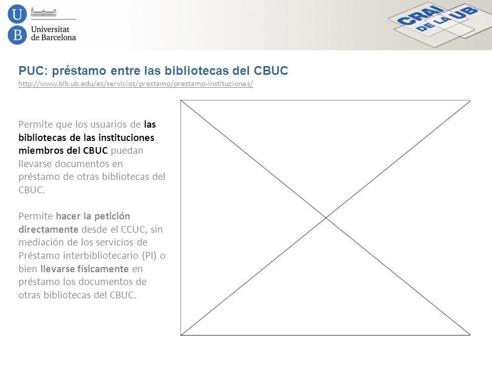 PUC: préstamo entre las bibliotecas del CBUC