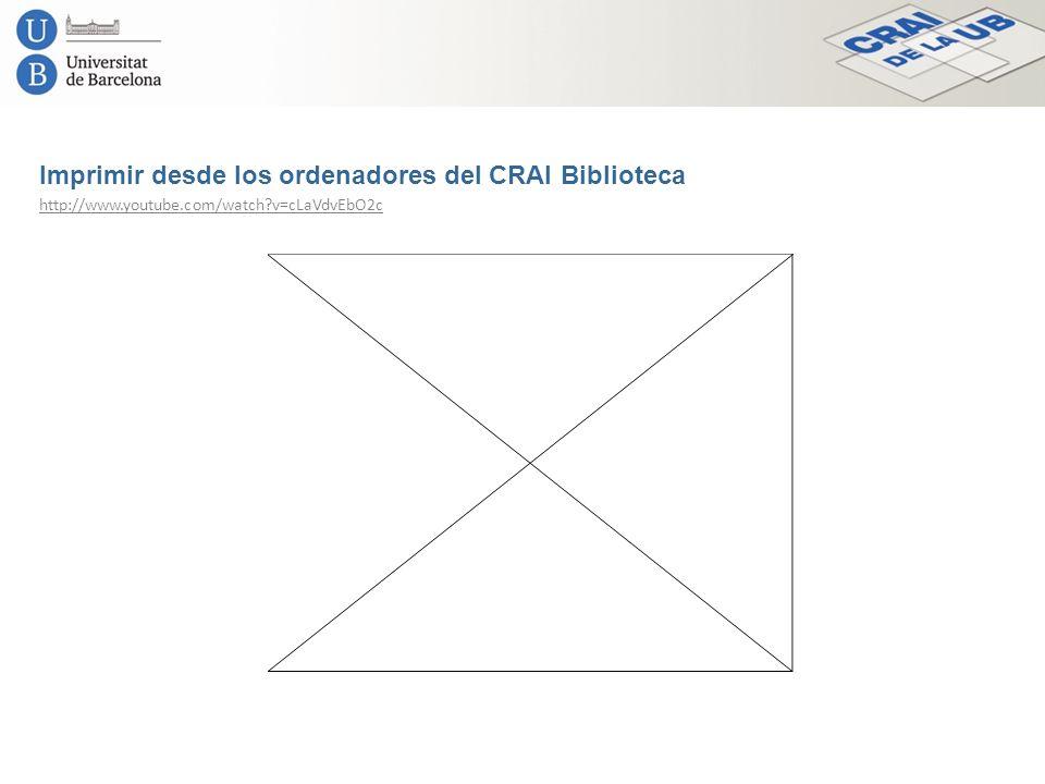 Imprimir desde los ordenadores del CRAI Biblioteca