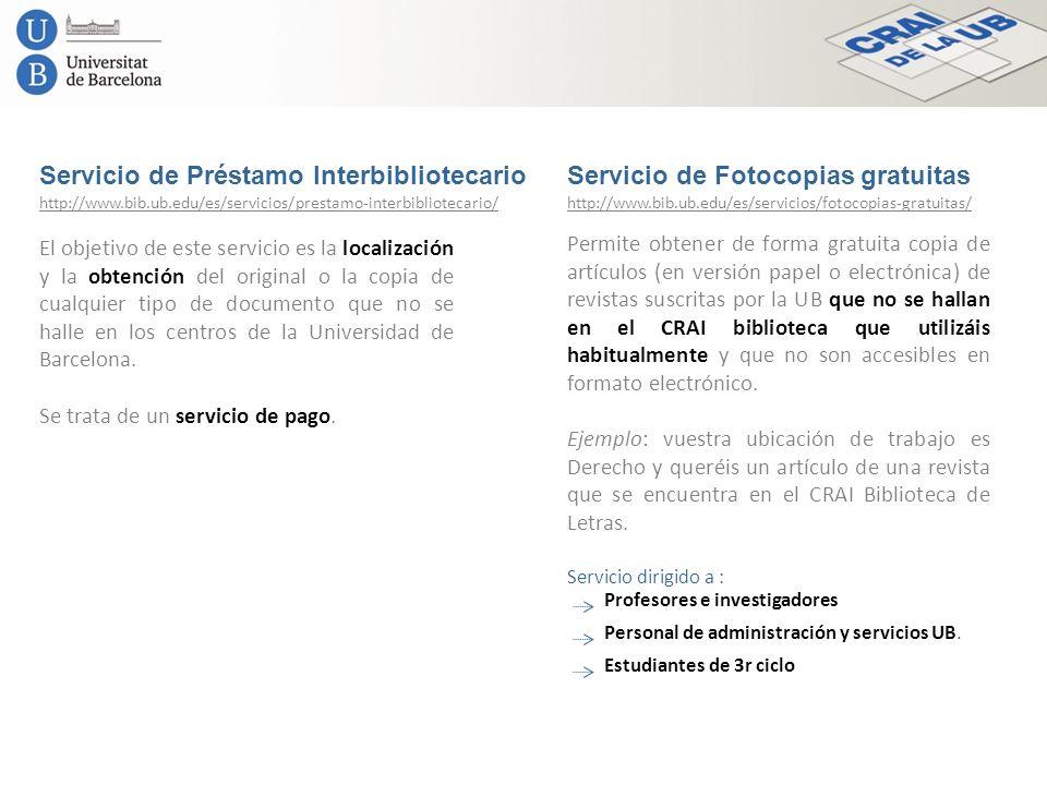 Servicio de Préstamo Interbibliotecario