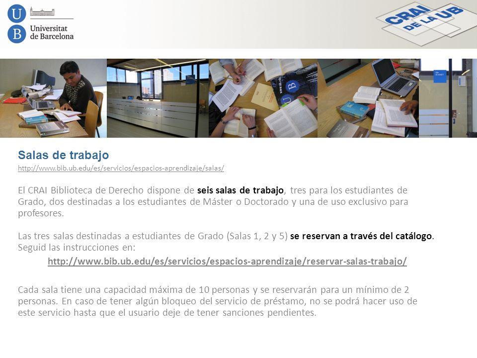 Salas de trabajo http://www.bib.ub.edu/es/servicios/espacios-aprendizaje/salas/