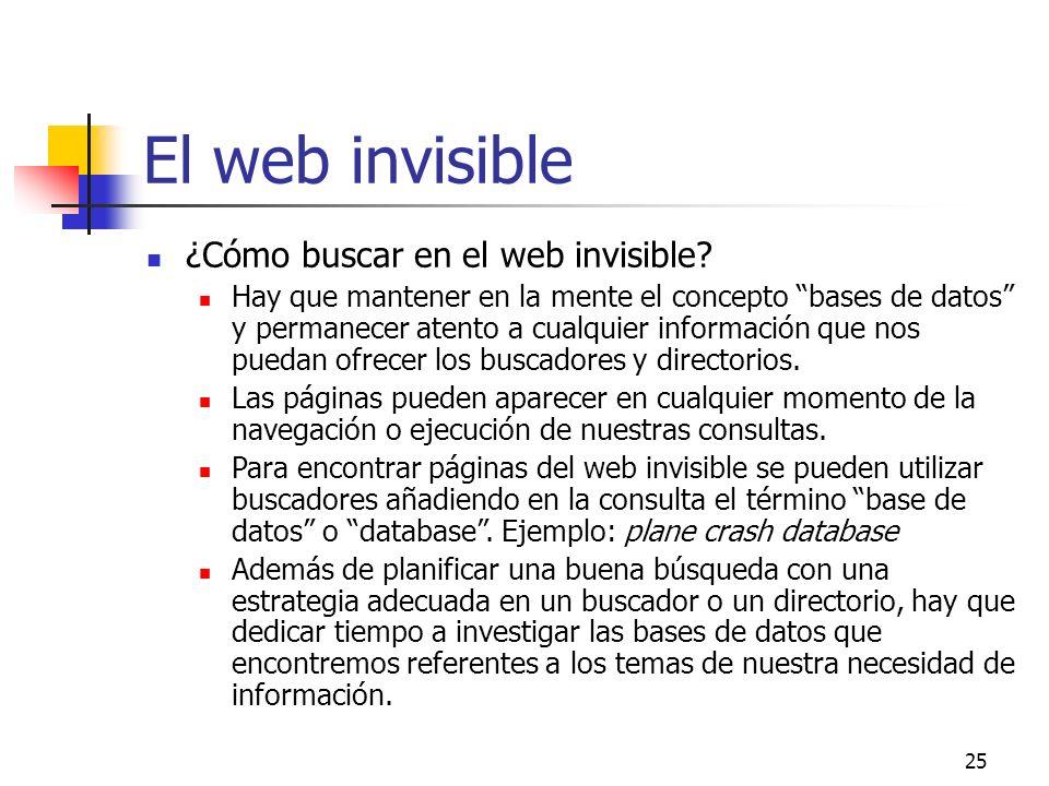 El web invisible ¿Cómo buscar en el web invisible