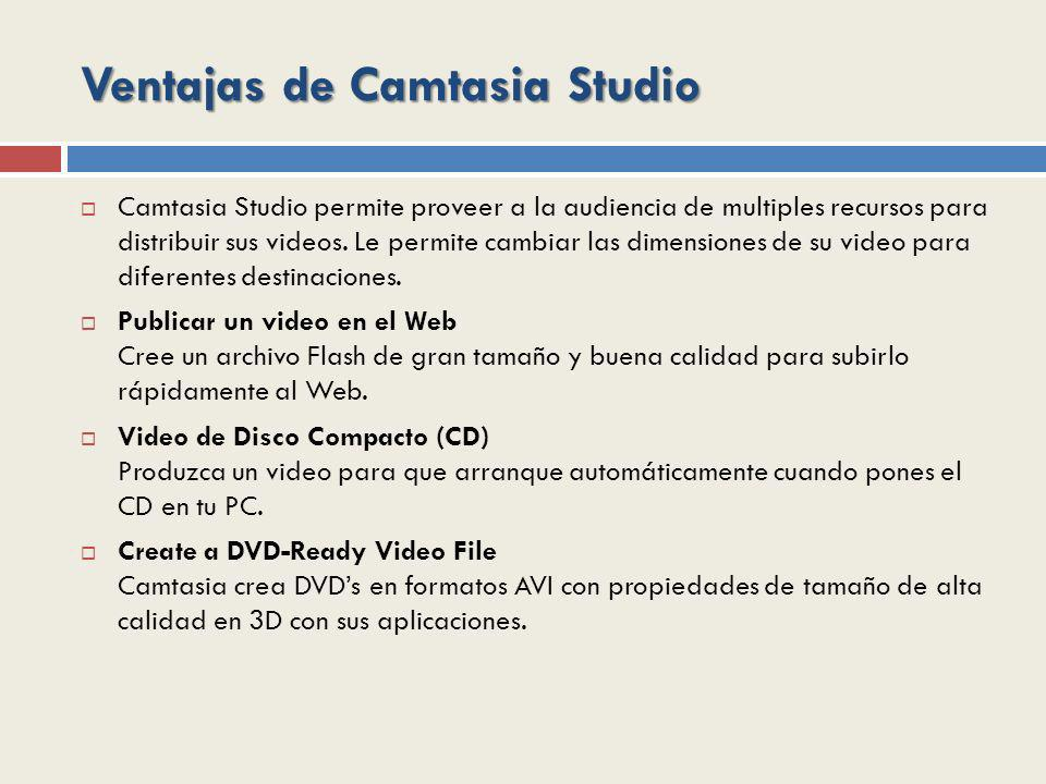 Ventajas de Camtasia Studio