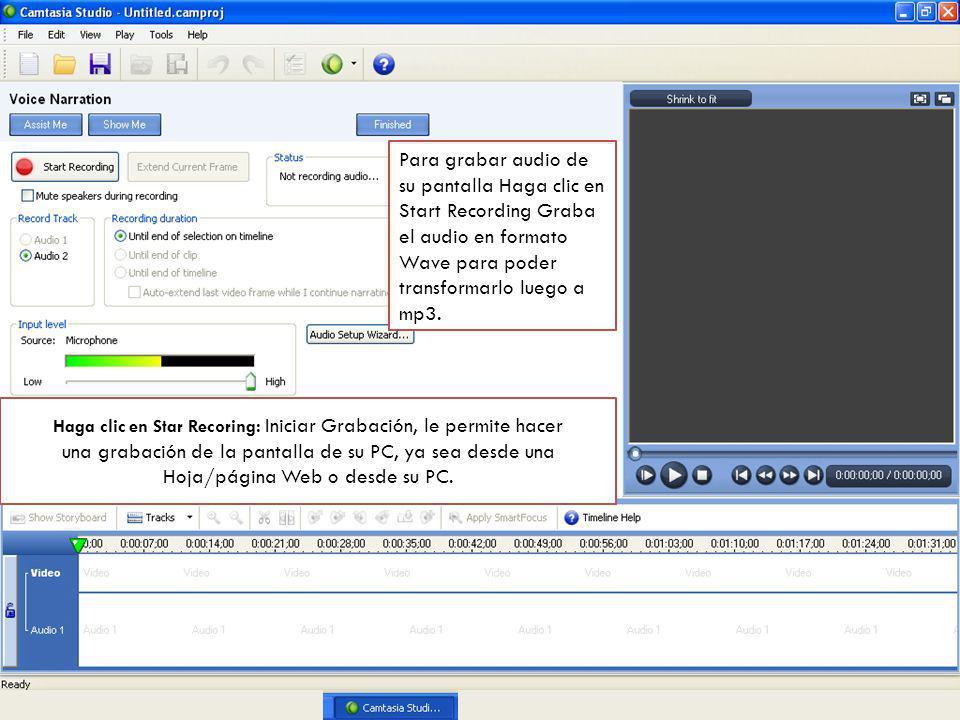 una grabación de la pantalla de su PC, ya sea desde una