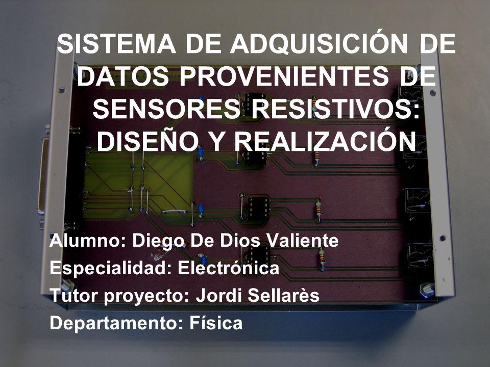 SISTEMA DE ADQUISICIÓN DE DATOS PROVENIENTES DE SENSORES RESISTIVOS: DISEÑO Y REALIZACIÓN