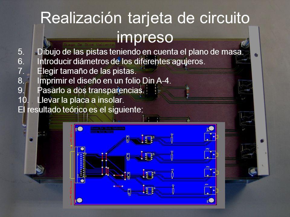 Realización tarjeta de circuito impreso